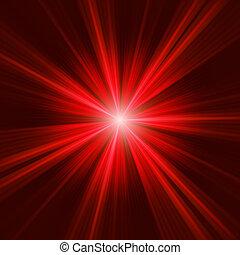 csillag, szétrepedés, eps, sötét, háttér., 8, piros