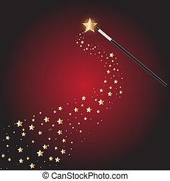 csillag, varázslatos wand, nyomoz