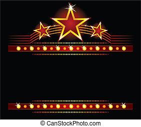 csillaggal díszít, felett, copyspace