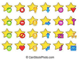 csillaggal díszít, ikon
