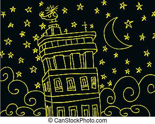 csillagos, éjszaka