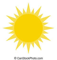 csillogó, nap, sárga