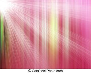 csillogó rays, piros