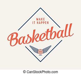 csinál, kosárlabda, azt, happen