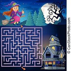 csinos, épület, 3, boszorkány, útvesztő, kísértetjárta