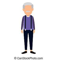 csinos, betű, avatar, nagyapa