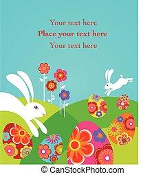 csinos, húsvét, kártya