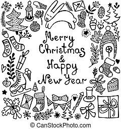 csinos, hand-drawn, állhatatos, karácsony, alapismeretek