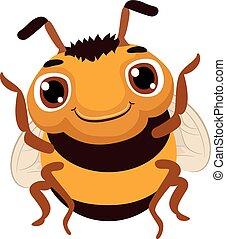 csinos, karikatúra, méh