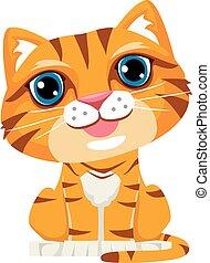 csinos, karikatúra, macska