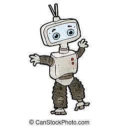 csinos, karikatúra, robot