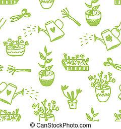 csinos, kert, motívum, seamless, tervezés, menstruáció, ...