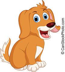 csinos, kevés, kifejezés, kutya, karikatúra