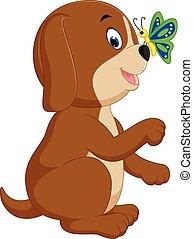 csinos, kutya, karikatúra