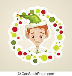 csinos, manó, karácsonyi üdvözlőlap