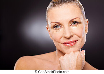 csinos, nő, modern, 50
