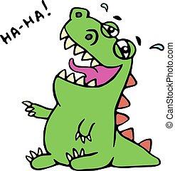 csinos, nevet, dinoszaurusz