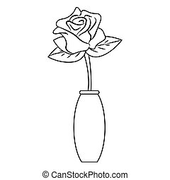 csinos, rajz, rózsa