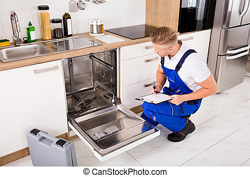 csipeszes írótábla, repairman, konyha, írás