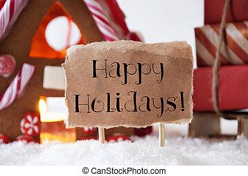 csiricsáré épület, noha, szánkó, szöveg, boldog, ünnepek