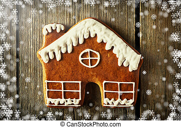 csiricsáré süti, karácsony, házi készítésű, épület