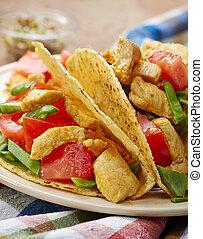 csirke, taco