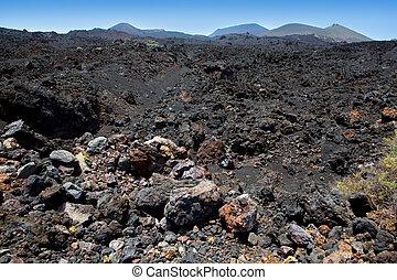 csiszol, vulkanikus, á-hang, láva, palma, fekete