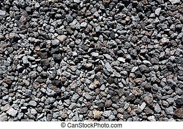 csiszol, vulkanikus, motívum, láva, fekete, struktúra