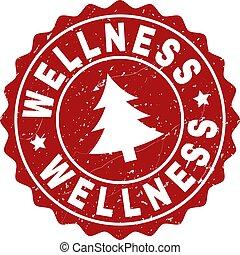 csiszolt, bélyeg, fóka, fenyőfa, wellness