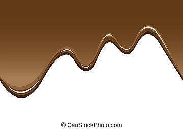 csokoládé, háttér, olvadt, seamless