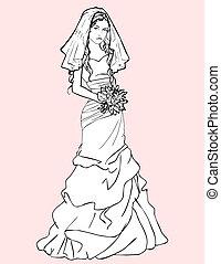 csokor, menyasszony, esküvő