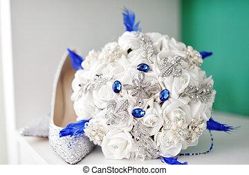 csokor, menyasszony, white cipő, esküvő