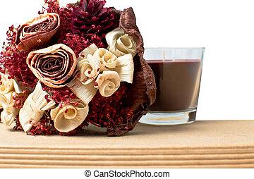 csokor, noha, száraz virág