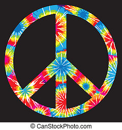 csomó, jelkép, béke, festett