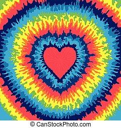 csomó, szív, háttér, festeni
