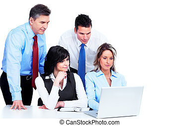 csoport ügy emberek, working.