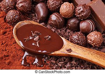csoport, csokoládé
