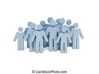 csoport emberek