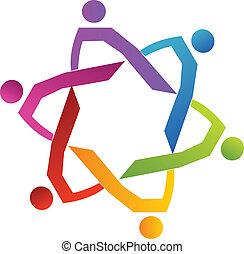 csoport, emberek, változatosság, csapatmunka