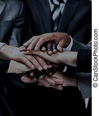 csoport, forma, munkás, együtt, -eik, különböző, csapatmunka, kézbesít