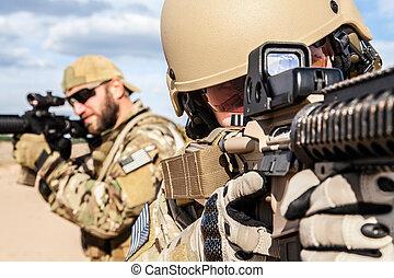 csoport, hadsereg, bennünket, katona, erőltet, különleges