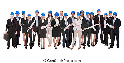 csoport, közül, építész, noha, blue print