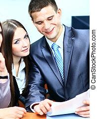 csoport, közül, boldog, ügy emberek, alatt, egy, gyűlés, -ban, hivatal