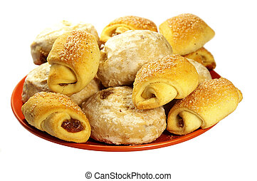 csoport, közül, croissant