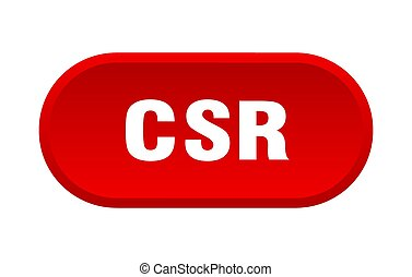 csr button. rounded sign on white background