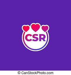 CSR vector icon, corporate social responsibility, eps 10 ...