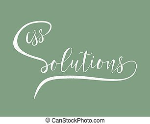 CSS solutions hand lettering