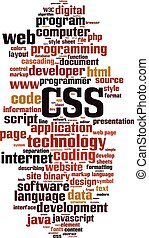 CSS word cloud concept. Vector illustration