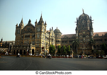 The famous CST (Chatrapati Shivaji Terminus earlier known as Victoria Terminus or VT) where the horrific terror attacks took place on 26th November 2008 attacks took place in Mumbai, India.
