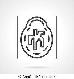CT angiogram vector icon line style